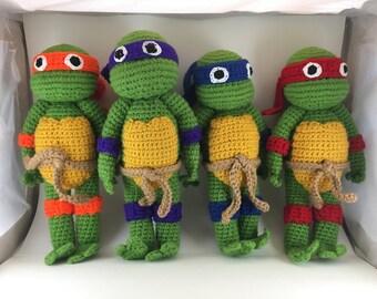 Crochet Amigurumi Ninja Turtles [All 4]