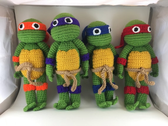 Amigurumi Ninja Turtle : Crochet Amigurumi Ninja Turtles All 4 by DianasCrochetCrafts