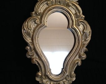 Mirror with frame resin decorated and aged