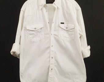 Vintage White Denim Wrangler Shirt