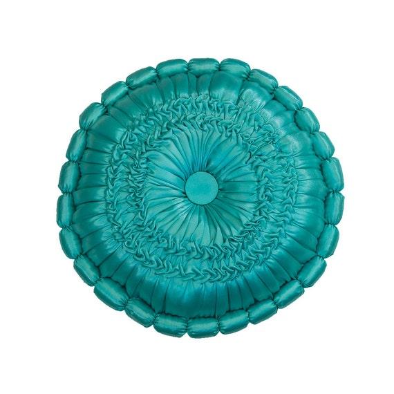 Items similar to Decorative Round Throw Pillows - Aqua - Home Decor - Wedding Decor - Kids Room ...