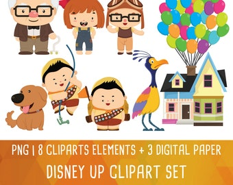 20% OFF Disney Up Clipart, Up Clip art, Scout boy clipart, Flying House Clip Art, digital clipart, Instant Download PNG file 300 dpi