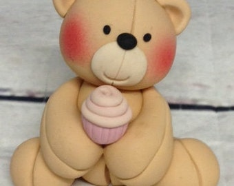 Teddy Cupcake Take Topper