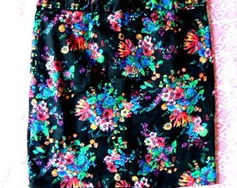 Floral Printed Skirt Laundry By Shelli Segal Skirt