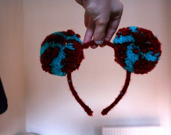 Red and green Pom headband