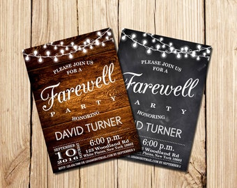 farewell party invitation farewell invitation rustic farewell party invitation rustic farewell invitation - Goodbye Party Invitation
