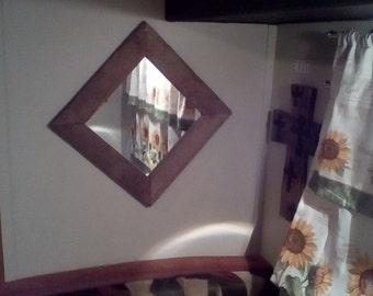 Repurposed Country Chic Barnwood Frame Mirror