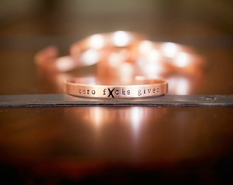 Mature - Stackable/Adjustable Bracelets with Edgy, Funny, and Inspiring Custom Sayings