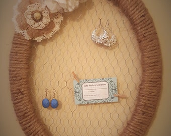 Twine Jewelry/ Picture Hanger