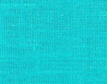 """11oz Turquoise Burlap by the Yard - 60"""" Wide, 100% Jute"""