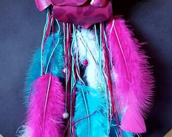Pink Cheetah Flower Dreamcatcher