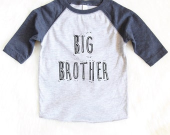 Big Brother Shirt - Baby Announcement Shirt - Kids Graphic Tee - Graphic Tees For Kids - Siblings Shirt - Cute Brother Shirt - Big Brother