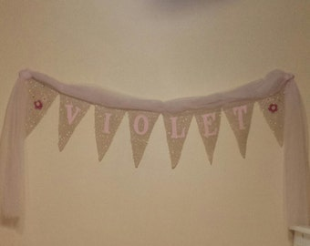 Personalized Burlap Banner