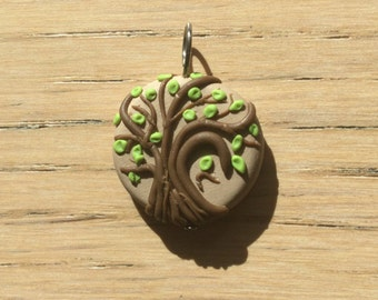 Budding Tree Handmade Polymer Clay Charm