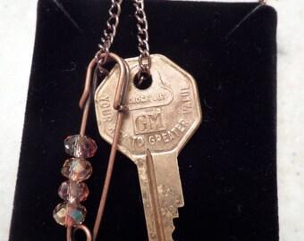 Vintage GM Key Necklace