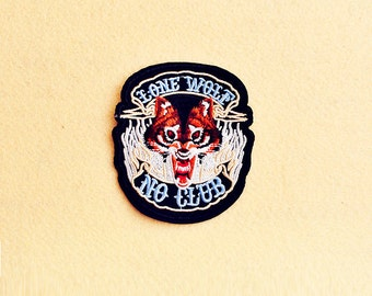 Wolf Patch - Iron on patch -Sew On patch - Embroidered Patch (Size 8.3cm x 8.7cm)