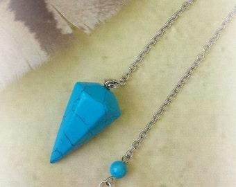 Turquoise Pendulum, Pendulums, Divination, Witchcraft Supplies, Healing Crystals, Crystal Pendulum, Dowsing Pendulum, Divination Tool, Witch