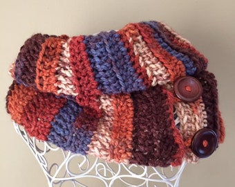 Crochet cowl, handcrafted in Autumn shades