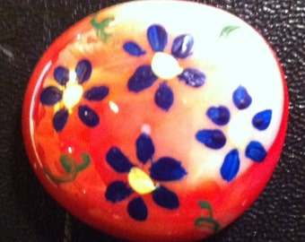 Hand painted stone magnet