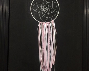 Pink & white dream catcher
