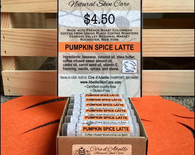 Pumpkin Spice Latte coffee infused lip balm by Cire d'Abeille™ Skin Care - Gluten Free
