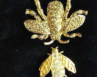 Vintage Bumble Bee lapel Pins broach shirt Jewelry Trifari