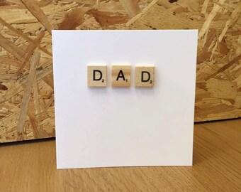 Dad - Scrabble card