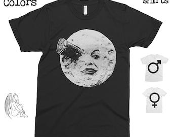 A Trip to the Moon T-shirt, Tee, American Apparel, Georges Méliès, Melies, Director, A Trip to the Moon, Cinema, Film, Cute Gift