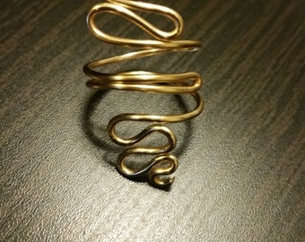 Folded Copper Wire Wrapped Ring