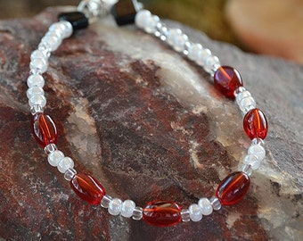 Red and White Valentine Bracelet