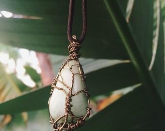 Stone wrap necklace