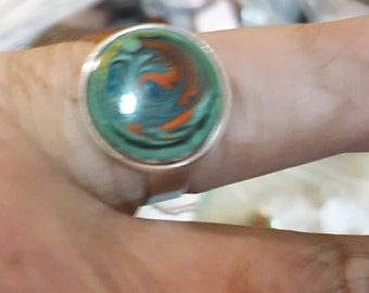 Willow Green Signet Ring