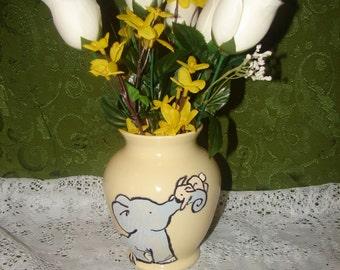 elephant & bunny vase
