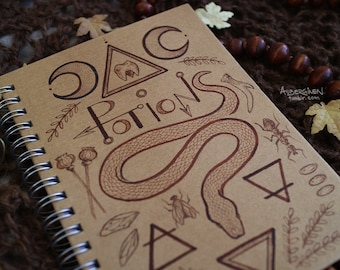 Potions*HAND-PAINTED sketchbook/notebook