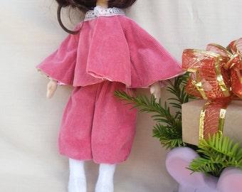 Natalka - art fabric doll, textil doll