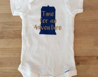 Doctor who baby onesie time for an adventure