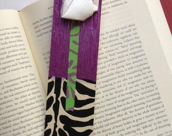 Lucky Cat Bookmark (purple)