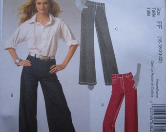 McCalls 5592 Trousers Sewing Pattern 16-22