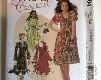 McCALL's UNCUT dress pattern size 14-20
