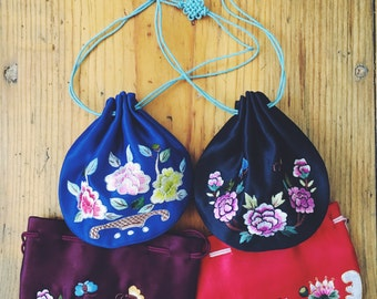 Chinese style hand embroidery pouch, small bag, sanitary pad pouch, car pouch, car hanging, scent pouch, coin purse, brocade pouch.