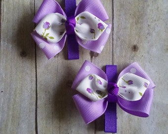Hair clip butterfly tripled wings set of two