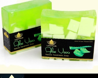 Lotus House Aloe Vera Natural Handmade Soap (300g) / 3 Bars