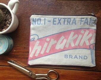 Handmade Purse Make Up Bag Vintage & Upcycled Fabric Velvet