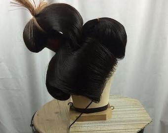 Japanese Katsura Wig in Carrier/Box For Weddings or Geisha