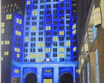 Original Canvas Painting 'Helmsley Building New York'