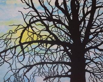 Original Painting 'Tree Silhouette'