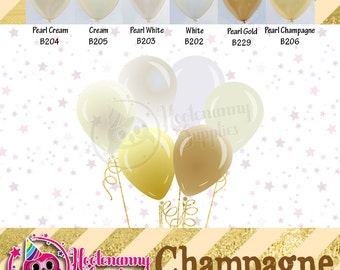11 inch Latex Champagne Balloons - 021