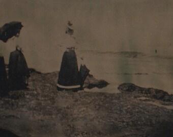 "Lido Mini - Black Glass Photograph (Ambrotype) - 1.5"" X 3"""