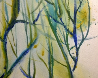 """Original  Abstract Watercolor Painting Direct From Artist Titled """"Nature's Colors"""""""