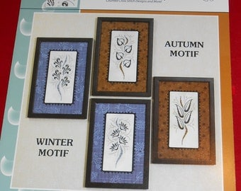 Brittercup Designs Seasonal Motif I and II counted cross stitch designs, cross stitch charts and patterns, choose one or both charts
